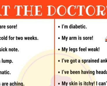 English Phrases to Use at the Doctor's 1