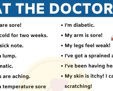 Useful English Phrases to Use at the Doctor's! 2