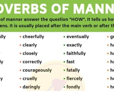 An Important List of Adverbs of Manner You Should Learn! 6