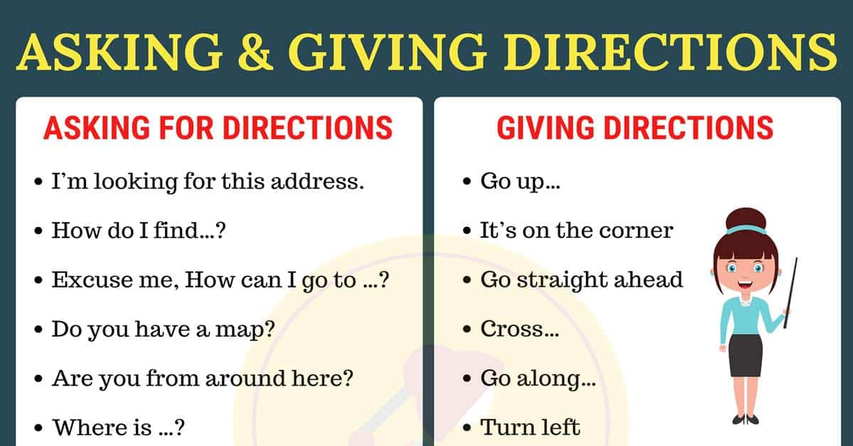 Useful Expressions for Asking for and Giving Directions in English!! 3