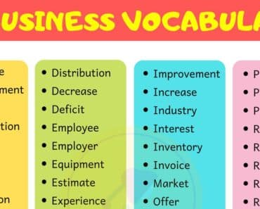 Business Vocabulary Word List 1