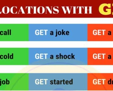 35+ Collocations with GET in English 1