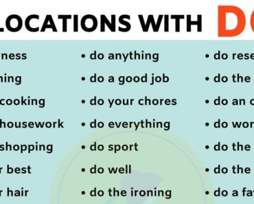 List of 40 Important Collocations with DO in English 5