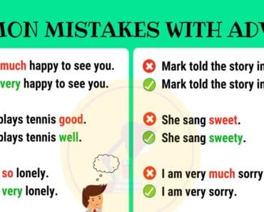 Common Mistakes in the Use of Adverbs 1