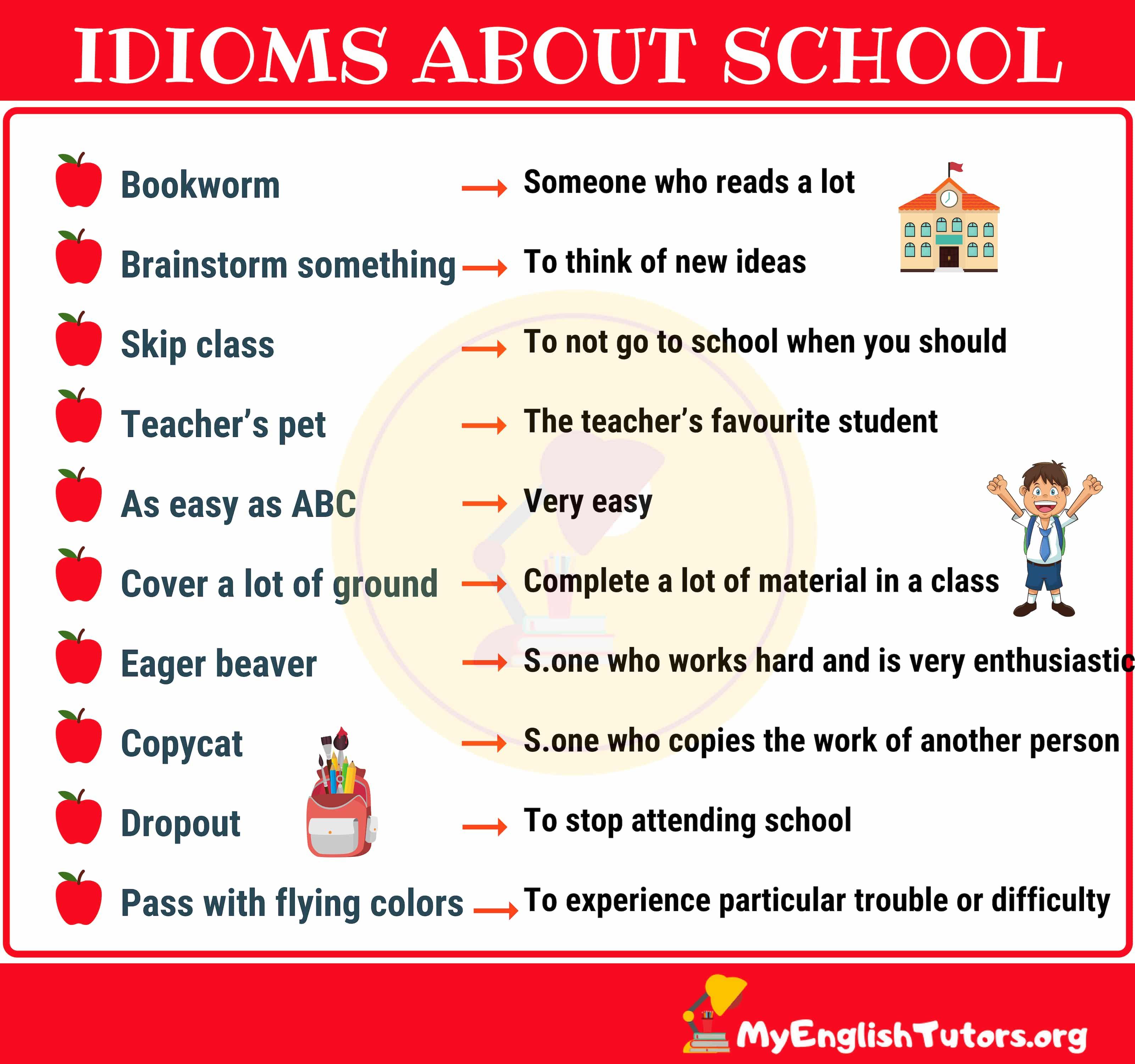 10 Interesting School Idioms in English