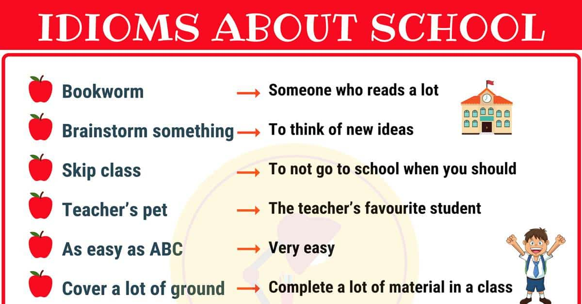 10 Interesting School Idioms in English 4