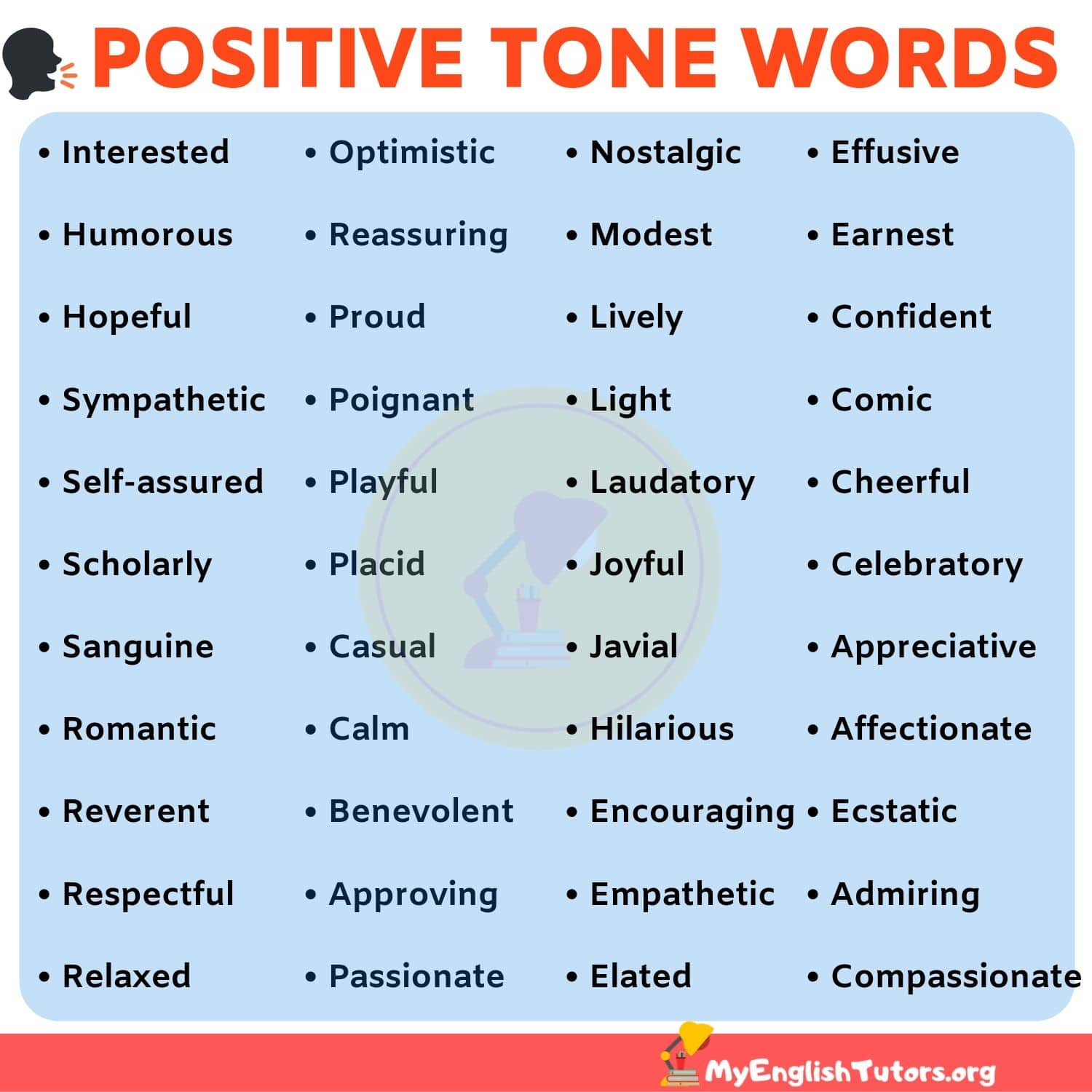 List Of TONE Words: 40+ Positive Tone Words To Describe