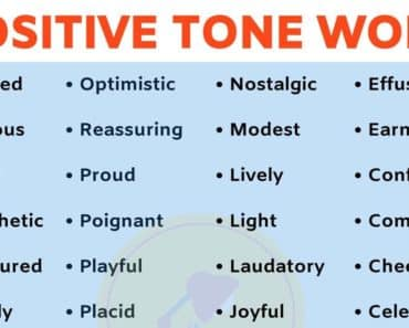 List of TONE Words: 40+ Positive Tone Words to Describe Tone in English 3