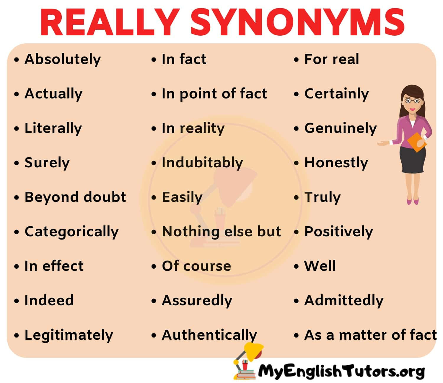 REALLY synonym