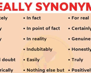 REALLY Synonym: List of 33 Useful Synonyms for REALLY in English 2