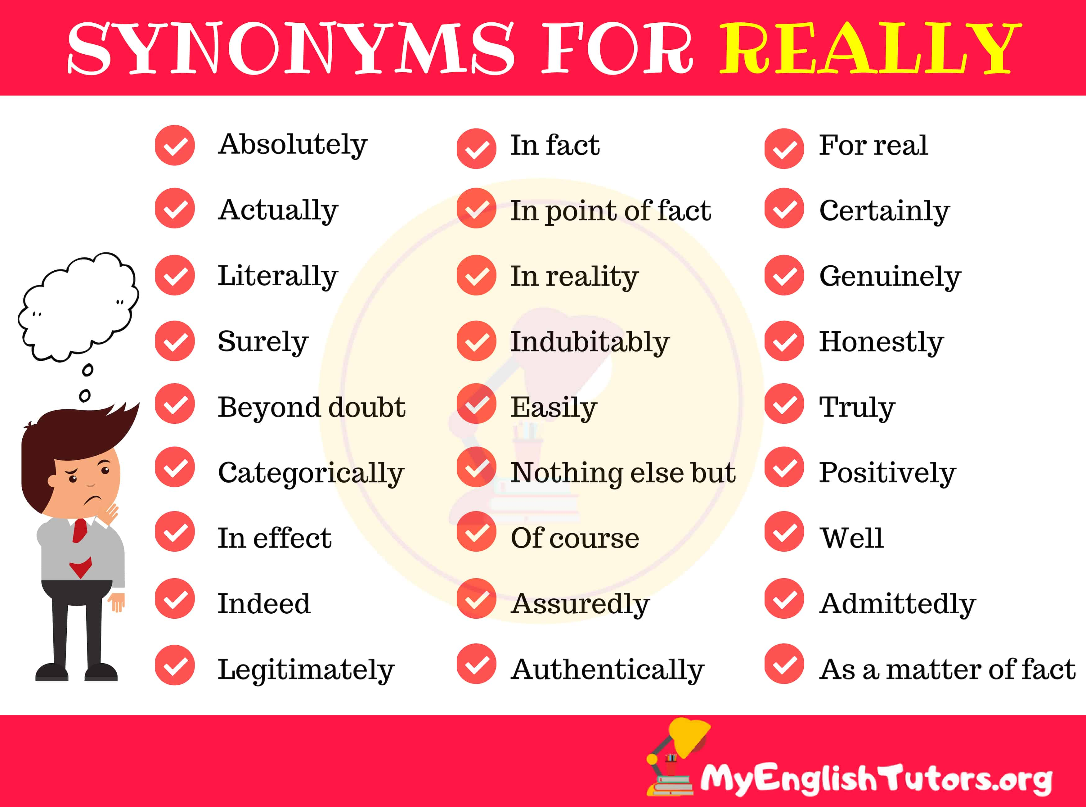 Synonyms for REALLY in English