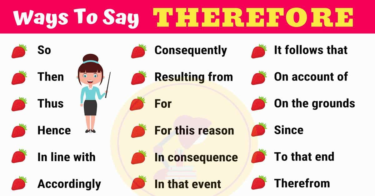 THEREFORE Synonym: 26 Synonyms for THEREFORE in English 1