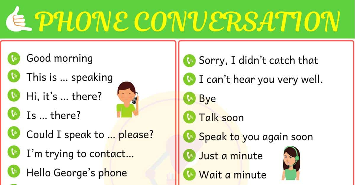 Phone Conversation: Useful English Phrases on the Phone! 1
