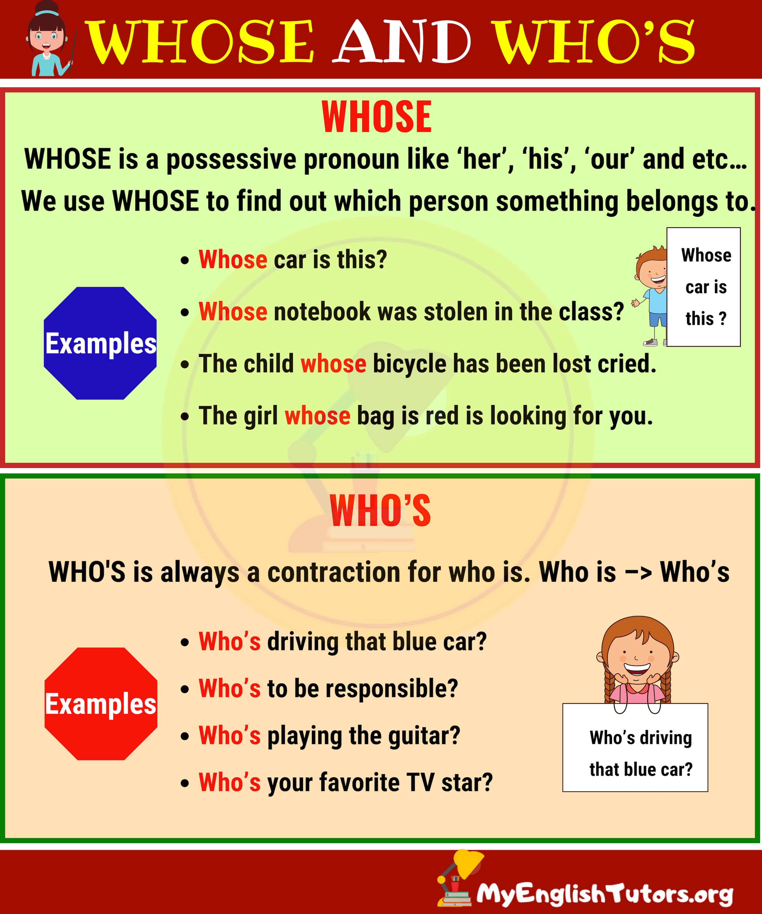 WHOSE vs WHO'S: What's the Difference?