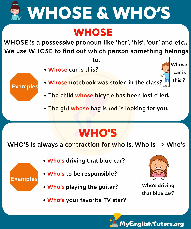 WHOSE vs WHO'S