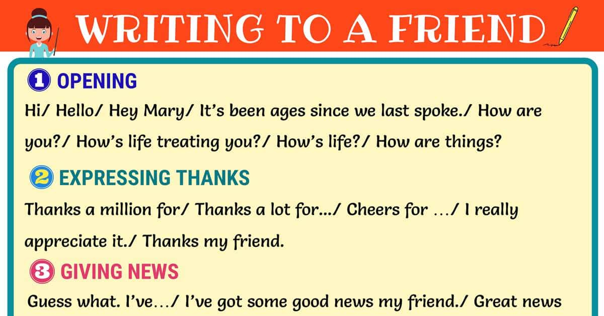 How to Write a Friendly Letter in English! 1