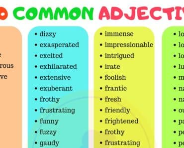 List of 100 Common Adjectives in English 1