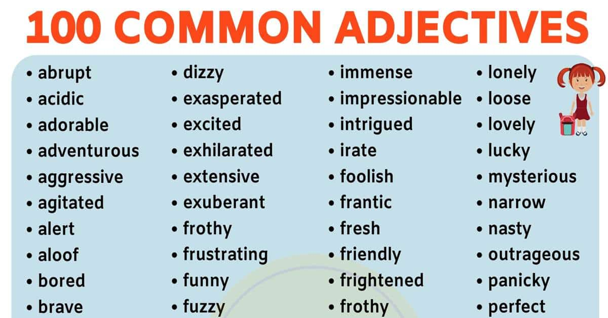 List of Adjectives: Learn 100 Useful Adjectives in English 4