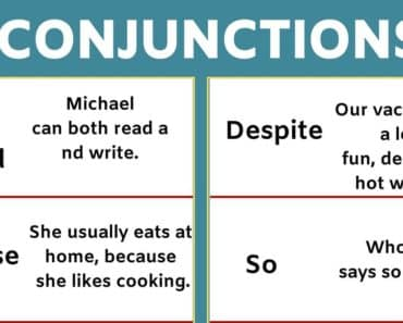 List of Conjunctions and Example Sentences in English! 5