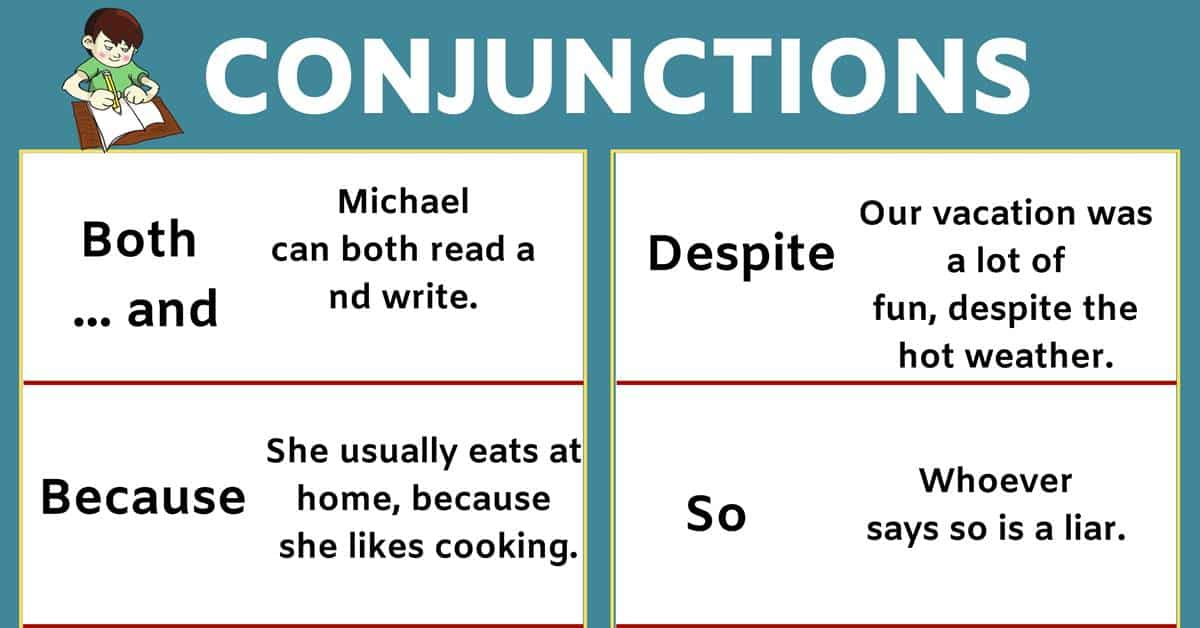 List of Conjunctions and Example Sentences in English! 1