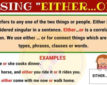 How to Use EITHER...OR in English 1