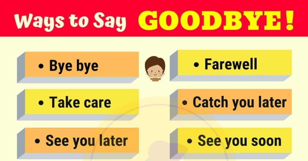 20 Funny Ways to Say GOODBYE | GOODBYE Synonyms - My