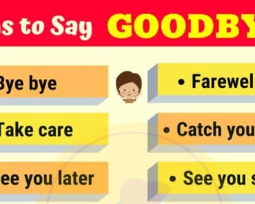 20 Funny Ways to Say GOODBYE | GOODBYE Synonyms 3
