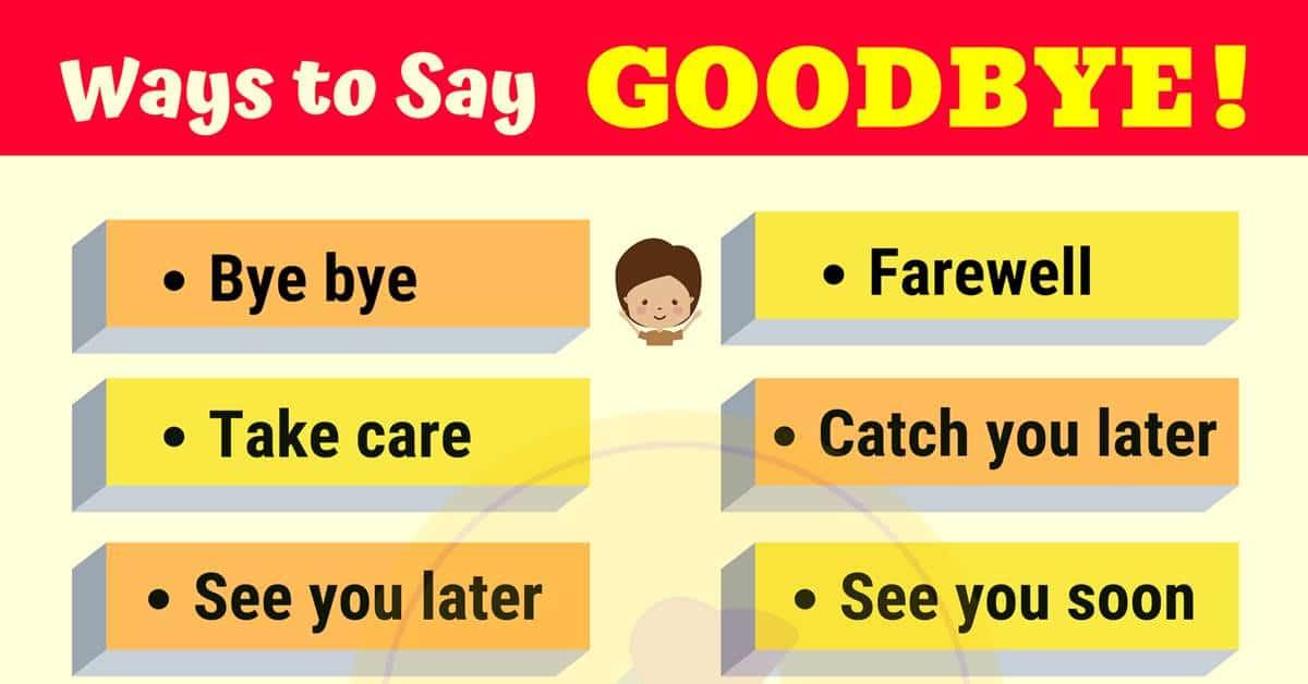 20 Funny Ways to Say GOODBYE | GOODBYE Synonyms 6