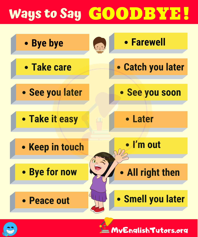 20 Funny Ways to Say GOODBYE