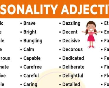 List of 150+ Useful Personality Adjectives in English 2