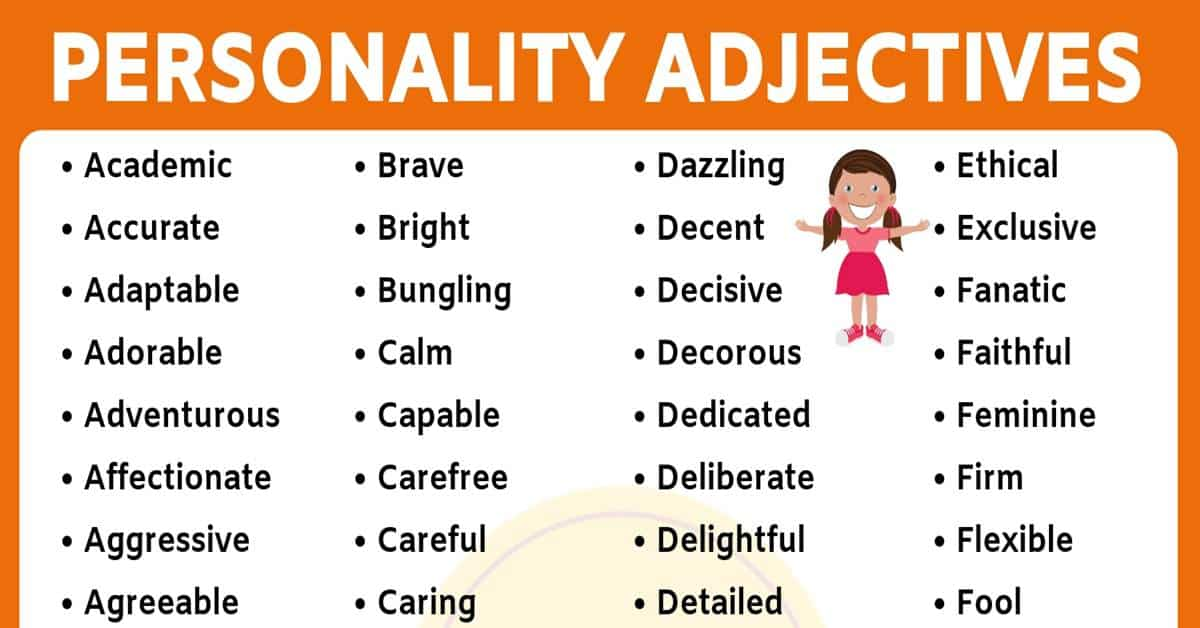 List of 150+ Useful Personality Adjectives in English 8