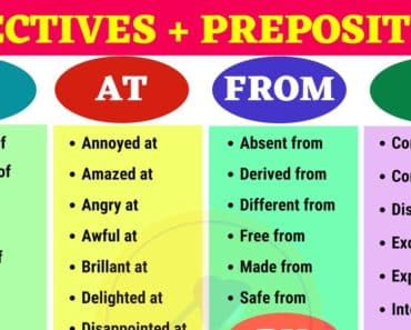 Common Adjective and Preposition Combinations 1