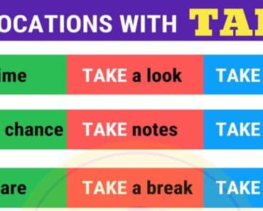 40 Collocations with TAKE in English 4