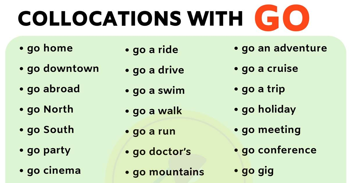 List of 40 Important Collocations with GO in English 1