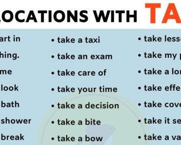 List of 40 Important Collocations with TAKE in English! 3