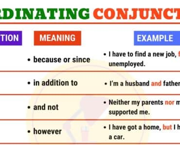 Coordinating Conjunctions in English Grammar 1