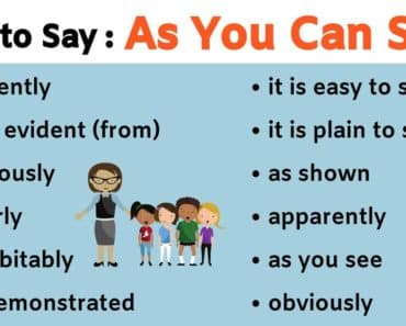 AS YOU CAN SEE Synonym: 23 Useful Ways to Say As You Can See! 7