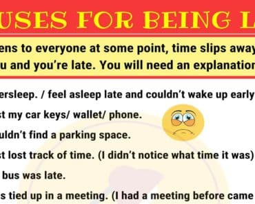 15 Excuses for Being Late in English 3