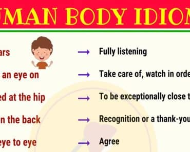 Interesting Idioms with Body Parts 3