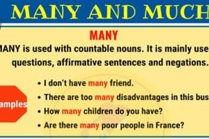 When to Use MUCH vs MANY in English 8