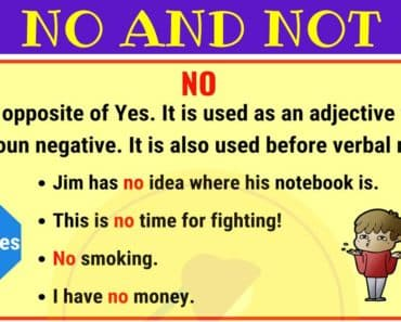 NO vs NOT: Commonly Confused Words in English 3