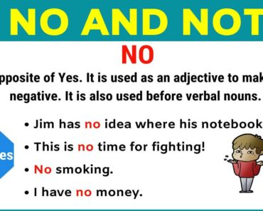 NO vs NOT: How to Use No vs Not Correctly in a Sentence 3