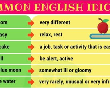 35+ Commonly Used English Idioms & Their Meanings 2