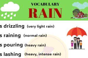 RAIN Vocabulary: English Vocabulary to Talk about RAIN 11