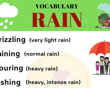 RAIN Vocabulary: English Vocabulary to Talk about RAIN 5