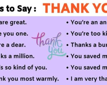 Thank You Synonym: 41 Power Ways to Say THANK YOU 6