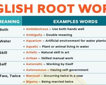 Root Words: Boost Your English Vocabulary With 45 Root Words 7