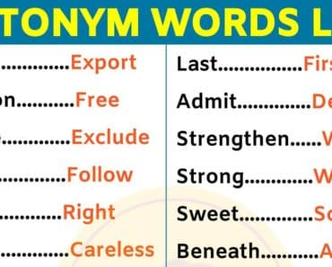 List of 180 Important Antonyms Examples For ESL Learners! 2