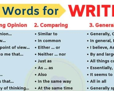 Linking Words | Key Words for Writing in English 1