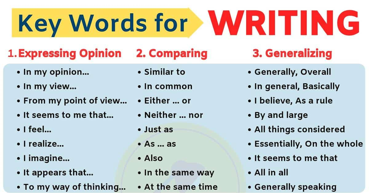 Linking Words | Key Words for Writing in English 2